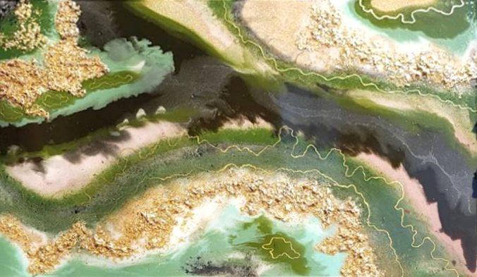 EJ Geode epoxy resin art Epoxyworkshop Antoynette Anema