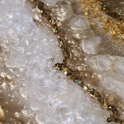 epoxy geode goud wit detail kristallen goud