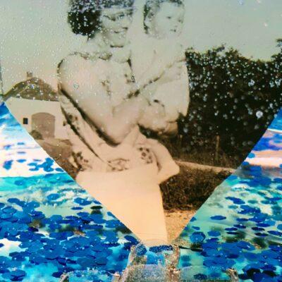 geode blauw foto kruis